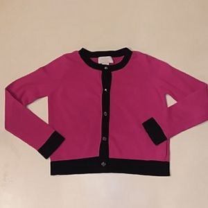 Kate Spade pink and black size 6 knit cardigan